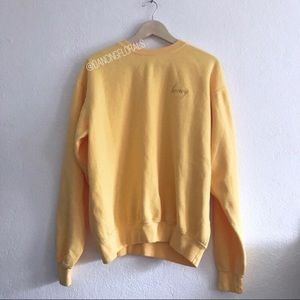 Brandy Melville Erica Honey yellow sweater
